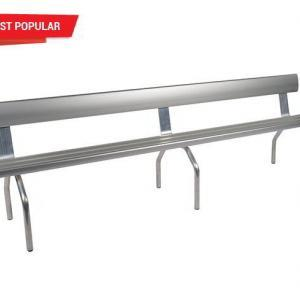 Felton 4-Mtr Free Standing Bench Seat with Backrest