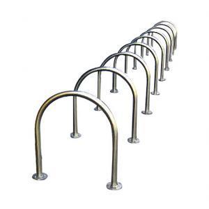 A bike hoop rail - bolt down or in-ground.