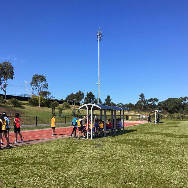 Felton Double Bench Shelter at Illawong Athletics