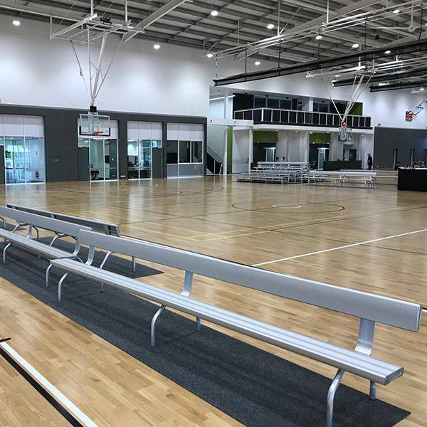 Felton Free Standing Bench Seat with Back Rest at Wanneroo Basketball Association
