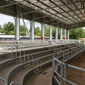 Felton 2 Tier Double Plank Backrest Spectator Seating at Scone White Park Arena