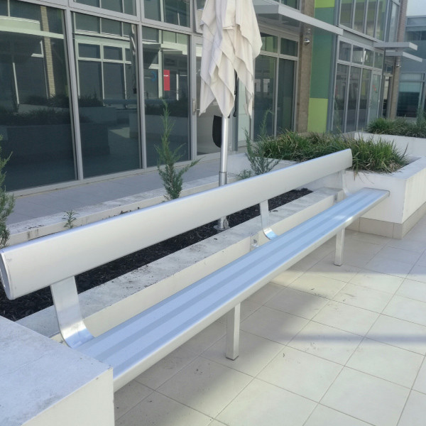 Felton Free Standing Bench Seat With Back Rest