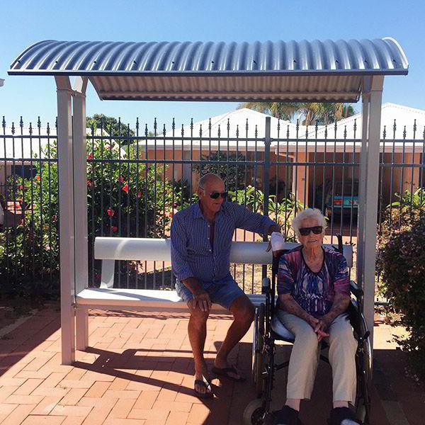 Felton Backrest Bench Shelter at Mount La Verna Retirement Village