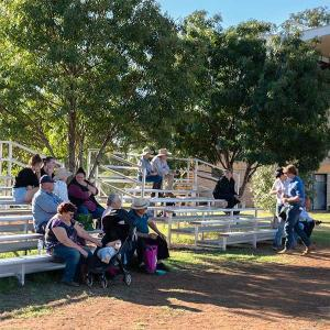 Felton 5 metres 6 Tiers Grandstands at Gunnedah Showground