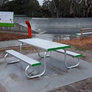 Above Ground Seat with Backrest Felton Industries Hindmarsh Council