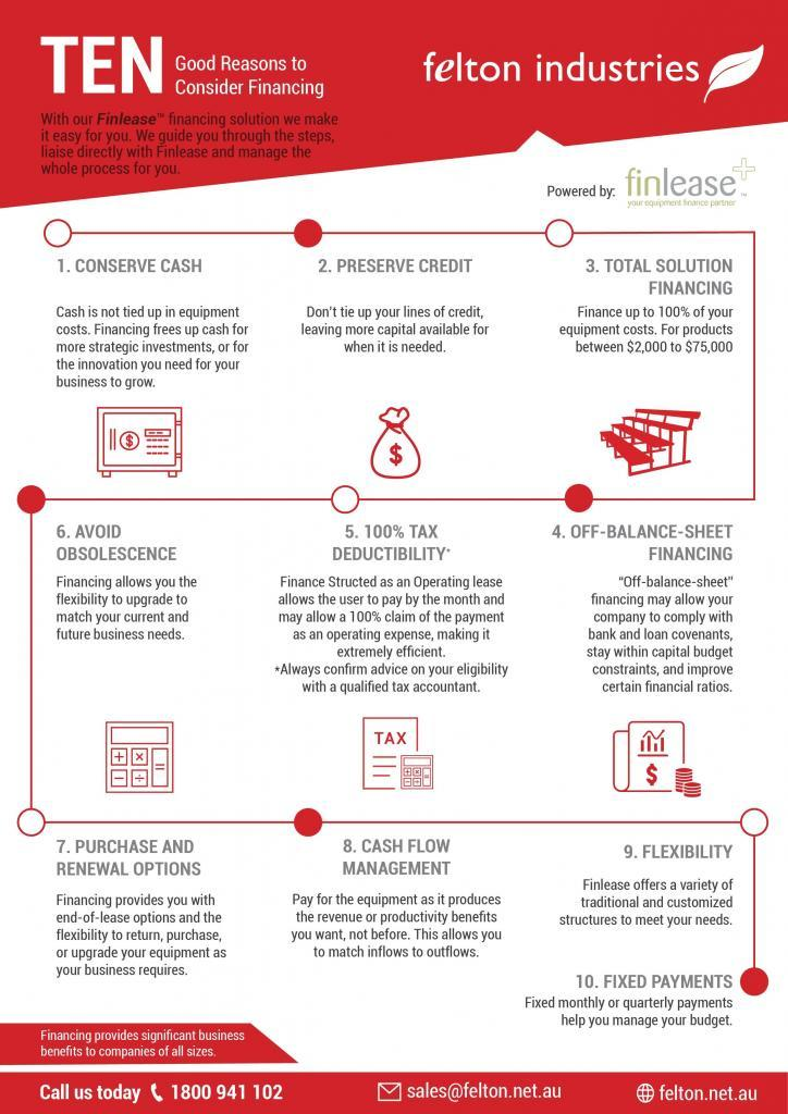 10 reasons of consider finance with Felton Industries