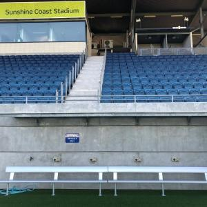 Felton Industries Bench Seating at Sunshine Coast Stadium