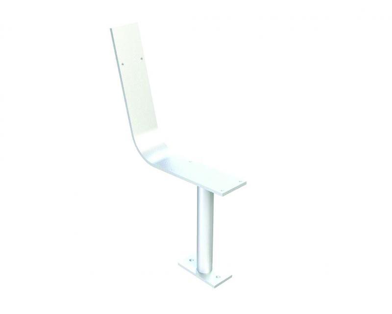 Above ground leg support with back rest mount for chair.