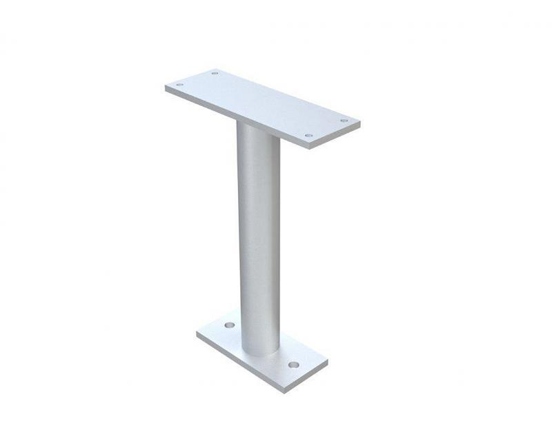 A leg support mount for benches.
