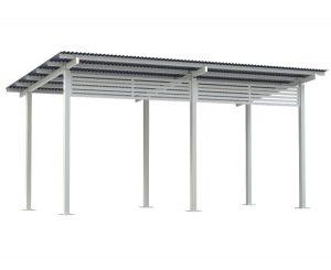 6x3 Felton Aluminium Skillion Shelter