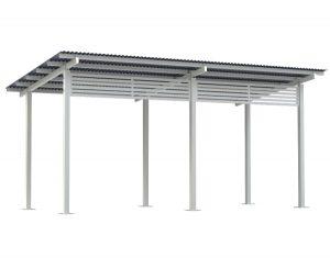 6x3 Aluminium Skillion Shelter