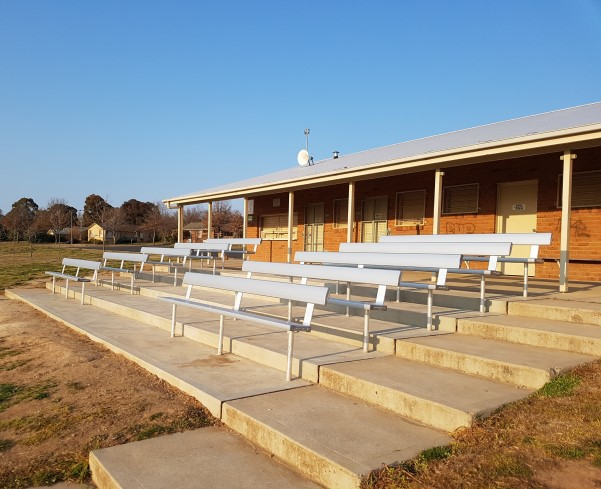 In-Ground Bench Seat With Backrest