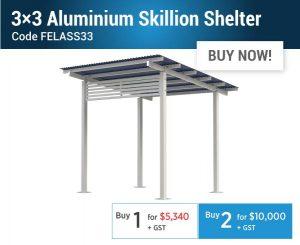 Felton EOFY Aluminium Skillion Shelter Offer
