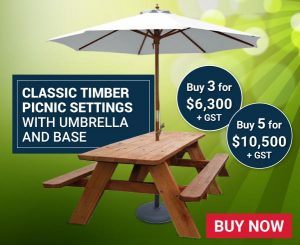 Classic Timber Picnic Settings Package